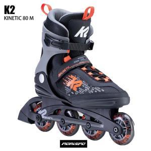 K2 ケイツー インラインスケート 大人用 KINETIC80 キネティック80 メンズ ブラック ...