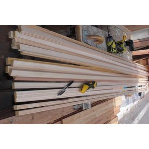 杉小割材 【上小無節】人工乾燥材 長さ1.8m 厚1.2cm 巾2cm 10枚入[プレーナー仕上げ]追加分|moriyamuku-com
