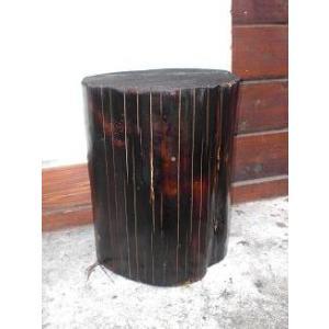 小 丸太 杉  焼杉 ウレタン 塗装 ガーデン 椅子|moriyamuku-com
