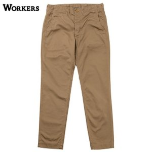 WORKERS/ワーカーズ Officer Trousers Slim Type2 USMC Khaki Chino|morleyclothing