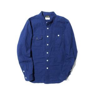 COLIMBO/コリンボ GARIBALDI GARDEN SHIRT BLACK&BLUE morleyclothing