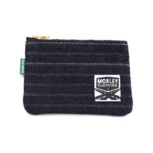 【別注】GRAPH ZERO×MORLEY CLOTHING denim coin purse 針抜きへリンボン|morleyclothing