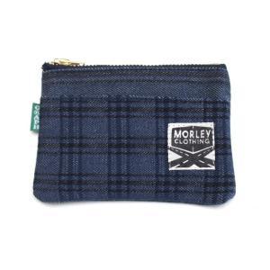 【別注】GRAPH ZERO×MORLEY CLOTHING denim coin purse ストライプ×チェック|morleyclothing