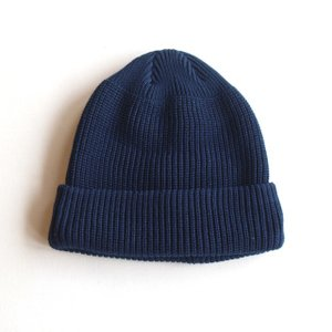 DECHO/デコ KNIT CAP ネイビー ニットキャップ made in japan|morleyclothing