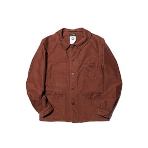 COLIMBO/コリンボ GRAHAM WORK BLOUSE MOLESKIN Chestnut Brown|morleyclothing