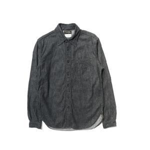 COLIMBO/コリンボ SANDLEAD WORK SHIRT DENIM ブラック|morleyclothing