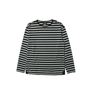 COLIMBO/コリンボ GLEN COVE STRIPED LONG-T Gray×Black|morleyclothing
