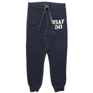 【先行予約】COLIMBO/コリンボ 片V4本針 SWEAT PANTS プリント(2) Navy morleyclothing
