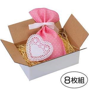 アストロ 宅配用小型ダンボール箱 8枚 日本製 白 送り状サイズ ギフト・小物アクセサリー用 820...