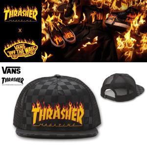 VANS×THRASHER TRUCKER MESHCAP バンズ スラッシャー コラボ メッシュキャップ|moshpunx