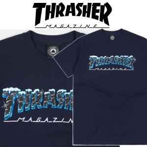 THRASHER BLACK ICE S/S スラッシャー Tシャツ|moshpunx