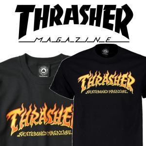 THRASHER FIRE LOGO S/S スラッシャー Tシャツ|moshpunx