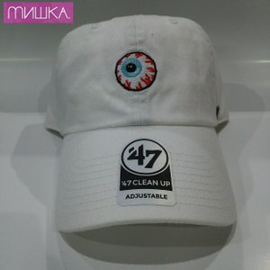 MISHKA x '47:  TONAL KEEP WATCH CLEAN UP ミシカ キャップ WHITE|moshpunx