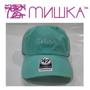 MISHKA x '47: CYRILLIC LOGO CLEAN UP ミシカ キャップ BLUE|moshpunx