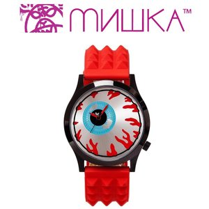 MISHKA x ALIVE: KEEP WATCH ミシカ 腕時計 RED|moshpunx