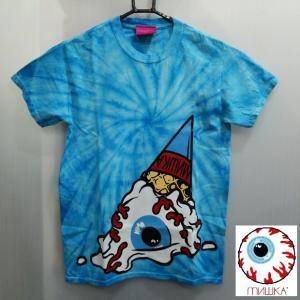 MISHKA TIE DYE SOFT CREAM KEEP WATCH TEE ミシカ Tシャツ タイダイ ソフトクリーム BLUE|moshpunx