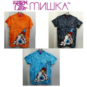 MISHKA TIE DYE SOFT CREAM KEEP WATCH TEE ミシカ Tシャツ タイダイ ソフトクリーム ORANGE moshpunx