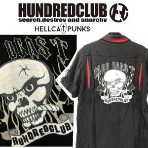 HUNDREDCLUB ボウリングシャツ ハンドレッドクラブ HELLCATPUNKS ヘルキャットパンクス|moshpunx