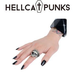 HELLCATPUNKS 王冠ドクロリング ヘルキャットパンクス 指輪 moshpunx