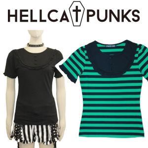 HELLCATPUNKS パフスリーブTシャツ ヘルキャットパンクス moshpunx