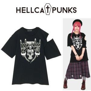 HELLCATPUNKS クラッシュTシャツ ヘルキャットパンクス ダメージ|moshpunx