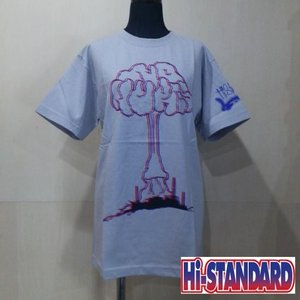 Hi-STANDARD NO NUKES 3D TEE ハイスタンダード Tシャツ SILVER/3D|moshpunx