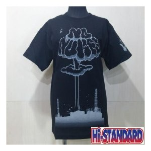 Hi-STANDARD NO NUKES TEE ハイスタンダード Tシャツ BLACK|moshpunx