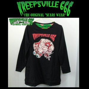 KREEPSVILLE666 BRAIN リバーシブルロングTシャツ クリープスヴィル666 ユニセックス moshpunx