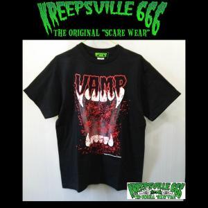 KREEPSVILLE666 VAMP TEE クリープスヴィル666 Tシャツ HELLCATPUNKS ユニセックス|moshpunx