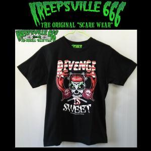 KREEPSVILLE666 REVENGE IS SWEET TEE クリープスヴィル666 PUNK パンク Tシャツ ユニセックス|moshpunx