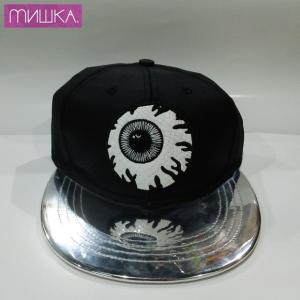 MISHKA KEEP WATCH MIRROR VISOR SNAPBACK ミシカ キャップ BLACK / SILVER|moshpunx
