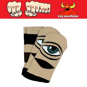 TOYMACHINE TM SECT EYE BIG STRIPE SOCK トイマシーン ソックス 靴下 moshpunx