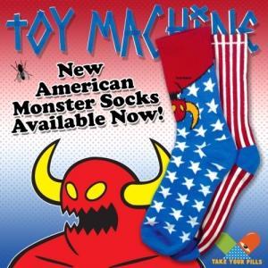 TOYMACHINE AMERICAN MONSTER SOCK トイマシーン ソックス 靴下 moshpunx