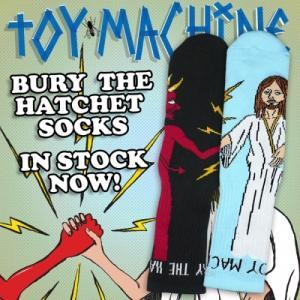 TOYMACHINE BURY THE HATCHET SOCK トイマシーン ソックス 靴下 moshpunx