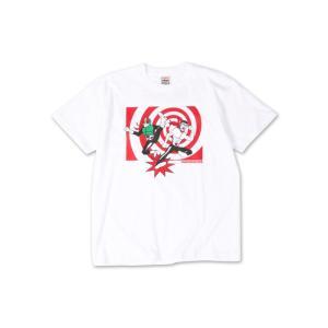 PUNKDRUNKERS x 仮面ライダー ライダーキックTEE パンクドランカーズ WHITE|moshpunx