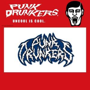 PUNKDRUNKERS メタル風ロゴ ステッカー パンクドランカーズ moshpunx