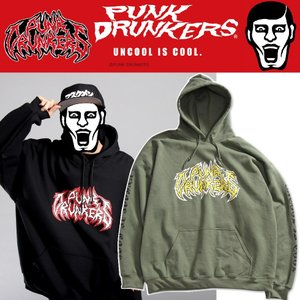 【 11月入荷予定 】 PUNKDRUNKERS メタルロゴパーカ パンクドランカーズ プルオーバー moshpunx