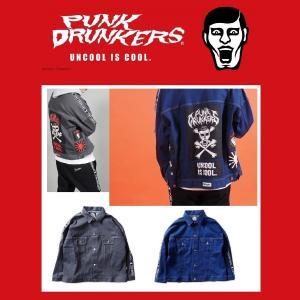 【 3月入荷予定 】PUNKDRUNKERS パッチGジャン パンクドランカーズ デニムジャケット|moshpunx