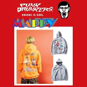 【 2月入荷予定 】PUNKDERUNKES x MAPPY マッピーパーカ パンクドランカーズ プルオーバー|moshpunx