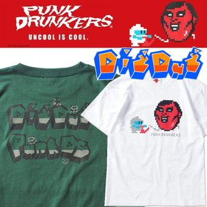 【 2月入荷予定 】PUNKDRUNKERS x DIGDUG ディグダグTEE パンクドランカーズ Tシャツ|moshpunx