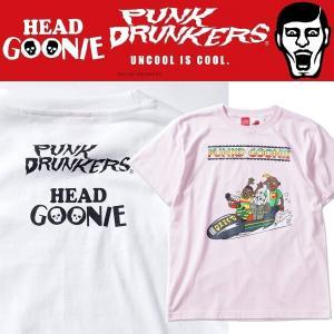 PUNKDRUNKERS x HEADGOONIE パンクドグーニーTEE パンクドランカーズ Tシャツ|moshpunx