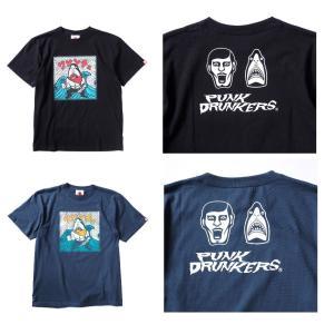PUNKDRUNKERS 鮫人シールTEE パンクドランカーズ|moshpunx