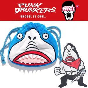 NICI x PUNKDRUNKERS フィギュアフェイスポーチ / 鮫人 パンクドランカーズ NICIGmbH moshpunx