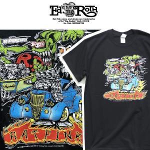 RATFINK Tシャツ SKULL ラットフィンク エドロス moshpunx