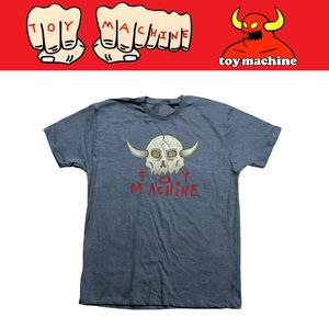 TOYMACHINE トイマシーン TM SKULL TEE Tシャツ NAVY|moshpunx