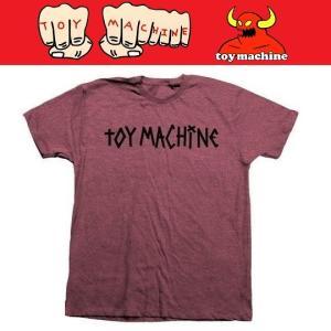 TOYMACHINE トイマシーン TM TAPE LOGO TEE Tシャツ BURGUNDY|moshpunx