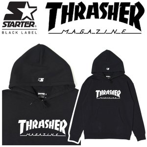 THRASHER x STARTER スラッシャー スターター HOODIE プルオーバー パーカー|moshpunx