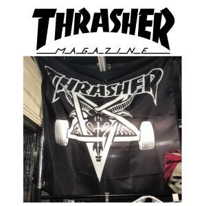 THRASHER SKATE GOAT BANNER スラッシャー バナー 旗 フラッグ|moshpunx