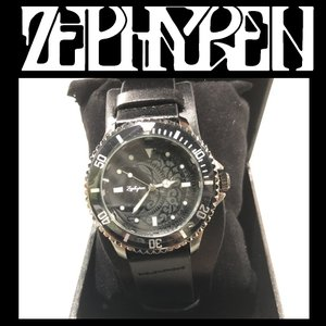 ZEPHYREN LEATHER WATCH - MOON - BLACK ゼファレン 腕時計 レザー|moshpunx