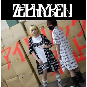 ZEPHYREN LONG SHIRT S/S WHITE / pagan ゼファレン ロングシャツ チェック 半袖 moshpunx